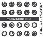 time and clocks icons that can... | Shutterstock .eps vector #1726133872