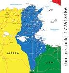 tunisia map   Shutterstock .eps vector #172613486