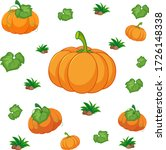 seamless pattern with pumpkins... | Shutterstock .eps vector #1726148338