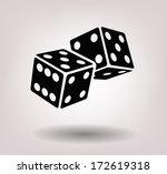 dice cubes   Shutterstock .eps vector #172619318
