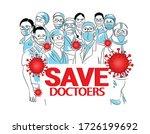 save the doctor nurses  medical ...   Shutterstock .eps vector #1726199692