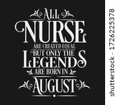 all nurse are equal but legends ... | Shutterstock .eps vector #1726225378