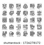 set of programming thin line... | Shutterstock .eps vector #1726278172