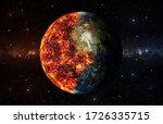 Lava Burns The Earth 3d...