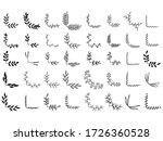 set of doodle floral corners | Shutterstock .eps vector #1726360528