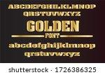 gold alphabet font.  modern...   Shutterstock .eps vector #1726386325