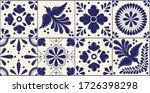 mexican traditional talavera... | Shutterstock .eps vector #1726398298
