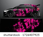 rally car decal graphic wrap... | Shutterstock .eps vector #1726407925