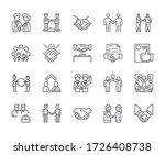 set of deal related vector line ...   Shutterstock .eps vector #1726408738