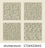 set of seamless background with ... | Shutterstock .eps vector #1726423642