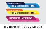 Tv News Bars Set Vector....