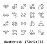set of dumbbell related vector...   Shutterstock .eps vector #1726436755