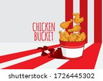 fried chicken legs and wings... | Shutterstock .eps vector #1726445302