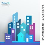 vector design   eps10 building... | Shutterstock .eps vector #172645796