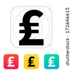 pound sterling icon. vector...