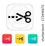 cut line icon. vector...