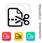 cut file icon. vector...