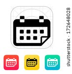 calendar flipped icon. vector...