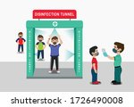 social distancing along with... | Shutterstock .eps vector #1726490008