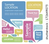 set of colorful speech bubbles    Shutterstock .eps vector #172649075