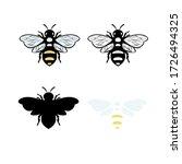 Bee Illustration Vector Design...