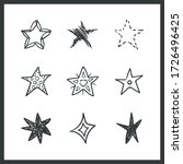 set of hand drawn stars. doodle ... | Shutterstock .eps vector #1726496425
