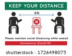 keep your distance sign social... | Shutterstock .eps vector #1726498075