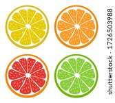 Set Of Juicy Citrus Icons....
