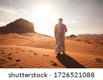 Arab Man Stands Alone In The...
