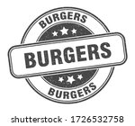 burgers stamp. burgers round... | Shutterstock .eps vector #1726532758