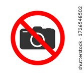 no photos prohibiting sticker...   Shutterstock .eps vector #1726548502