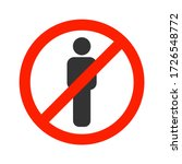 people are not allowed. no sign ...   Shutterstock .eps vector #1726548772