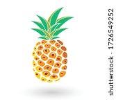 pineapple fruit. summer fruits... | Shutterstock .eps vector #1726549252