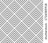 art deco pattern. vector black... | Shutterstock .eps vector #1726585918