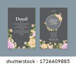 wedding invitation card vector... | Shutterstock .eps vector #1726609885