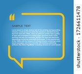 speech bubble news vector...   Shutterstock .eps vector #1726611478