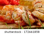 grilled shrimps | Shutterstock . vector #172661858