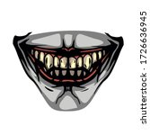 scary toothy jaw of a evil... | Shutterstock .eps vector #1726636945