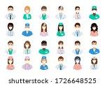 doctors and nurses avatars in... | Shutterstock .eps vector #1726648525