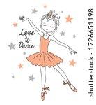 love to dance. ballet dancer....   Shutterstock .eps vector #1726651198