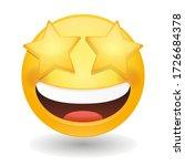 star struck eyes emoji vector... | Shutterstock .eps vector #1726684378