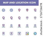 map and location icon pack...
