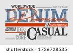 casual denim stylish typography ...   Shutterstock .eps vector #1726728535