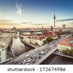Stock photo berlin germany viewed from above the spree river 172674986