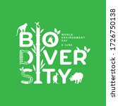 biodiversity typography design... | Shutterstock .eps vector #1726750138