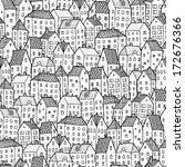 City Seamless Pattern In Black...