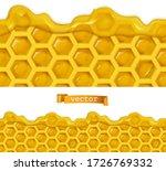 honey and honeycombs. 3d...   Shutterstock .eps vector #1726769332