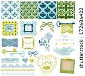 scrapbook design elements  ... | Shutterstock .eps vector #172686422