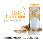 curly blond hair with shampoo... | Shutterstock . vector #172687856