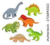 cute colorful dinosaur set.... | Shutterstock .eps vector #1726893322